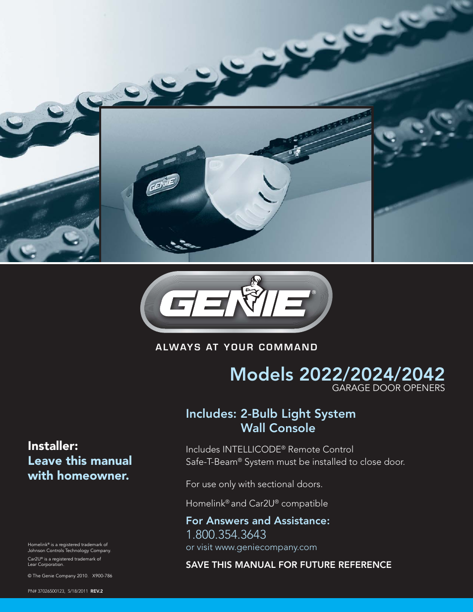 Genie Model 2022 User Manual 30 Pages Also For Model
