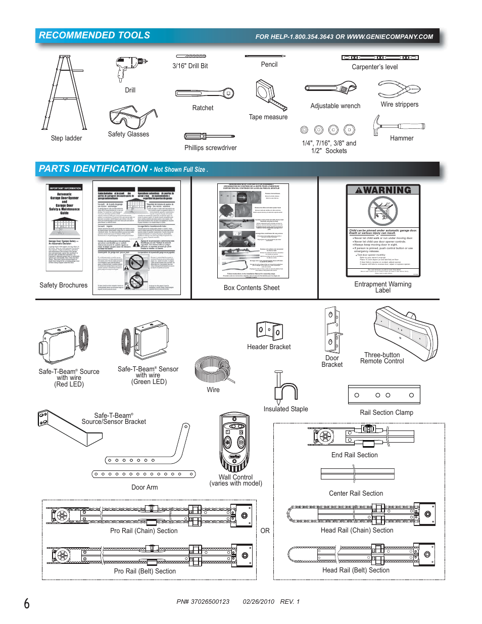 Recommended Tools Parts Identification Not Shown Full