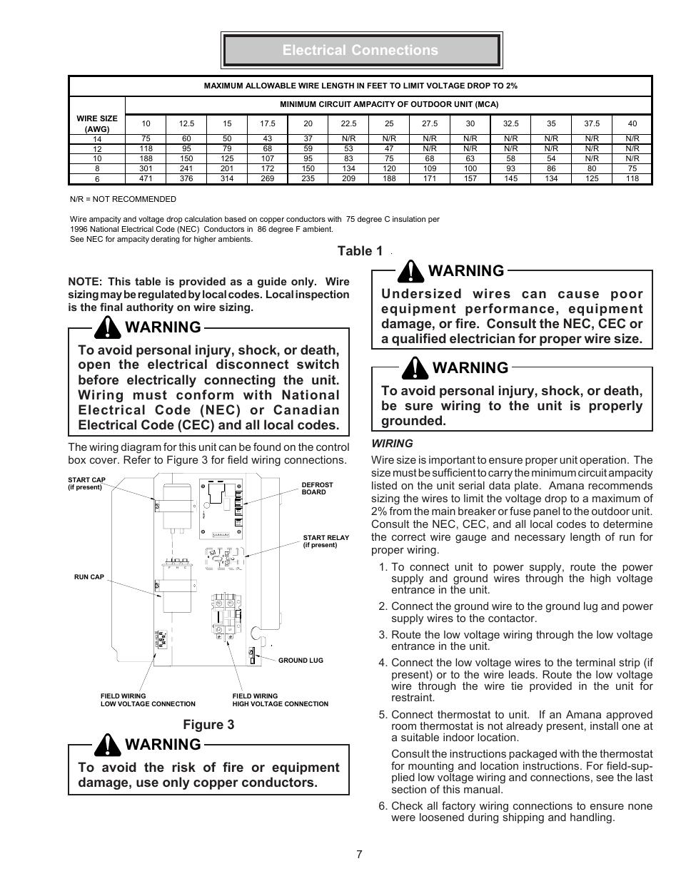 electrical connections, wiring, warning | goodman mfg amana remote on  hvac heat pump diagram