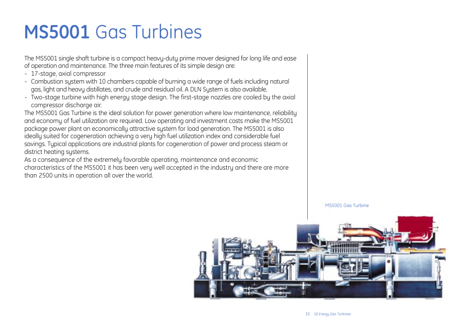 Ms5001 Gas Turbines Ge Gas Turbine User Manual Page 10