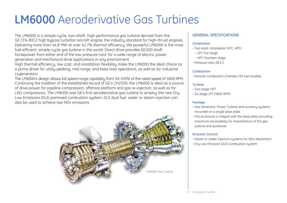 Lm6000 aeroderivative gas turbines | GE Gas Turbine User Manual