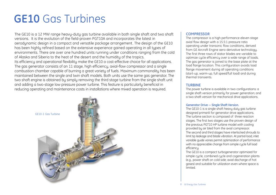 Ge10 gas turbines | GE Gas Turbine User Manual | Page 8 / 31