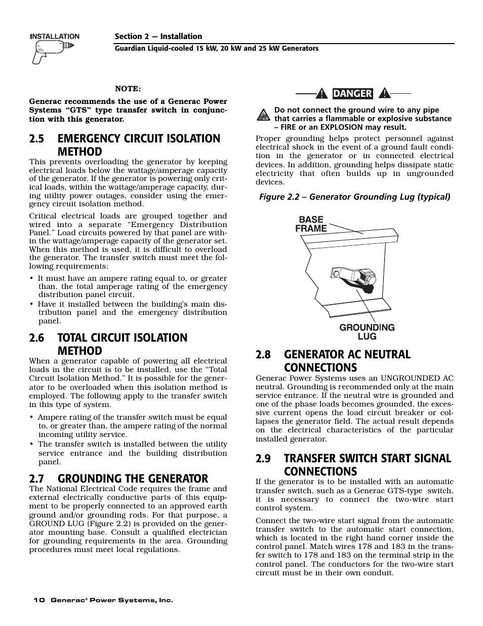 5 emergency circuit isolation method, 6 total circuit isolation ...
