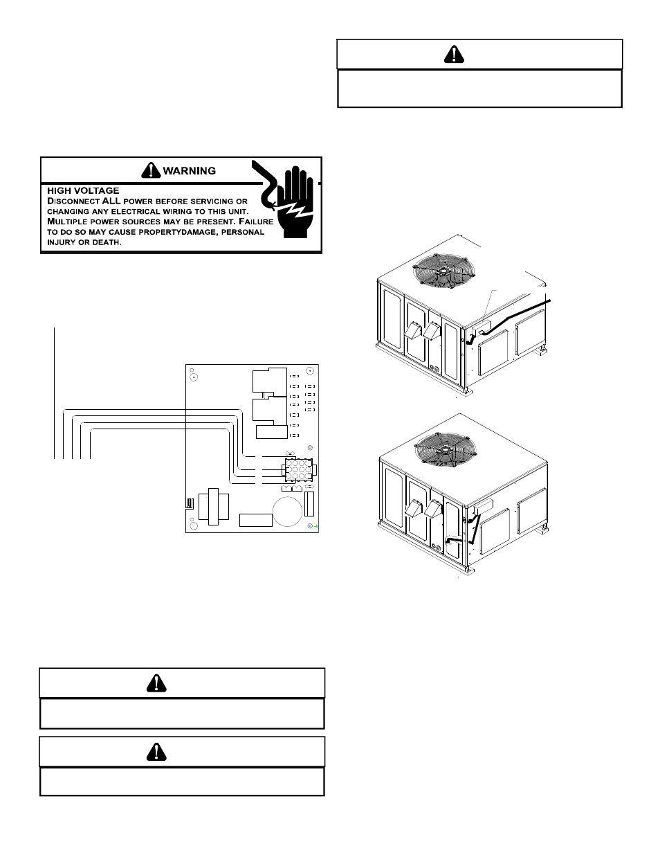 Caution Warning Typical Electrical Wiring Unit Voltage Goodman Manufacturing Diagrams Thermostat Mfg A Gpg13 M User Manual Page 9 36
