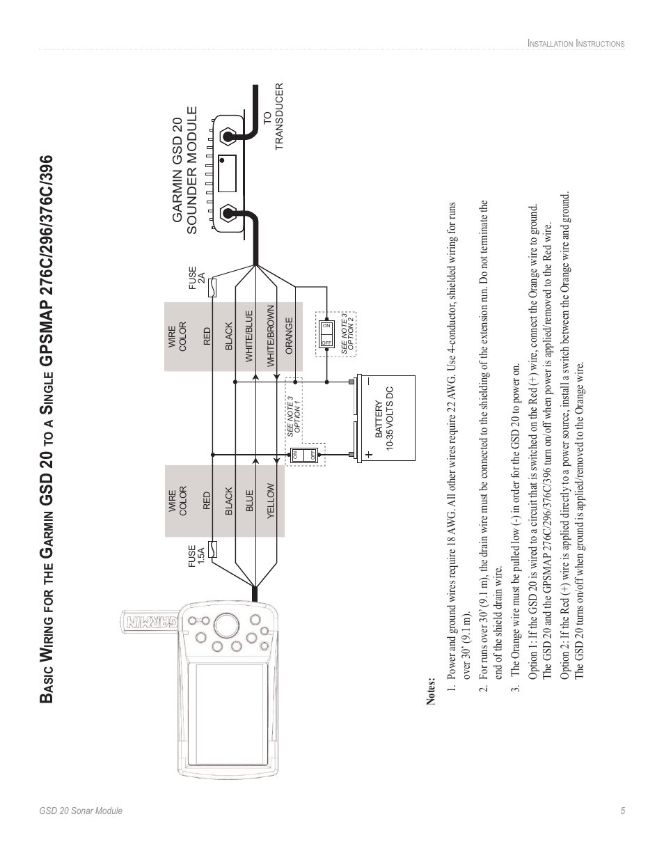 Gsd 20 | Garmin GSD-20 User Manual | Page 7 / 12 Garmin Wiring Diagram on