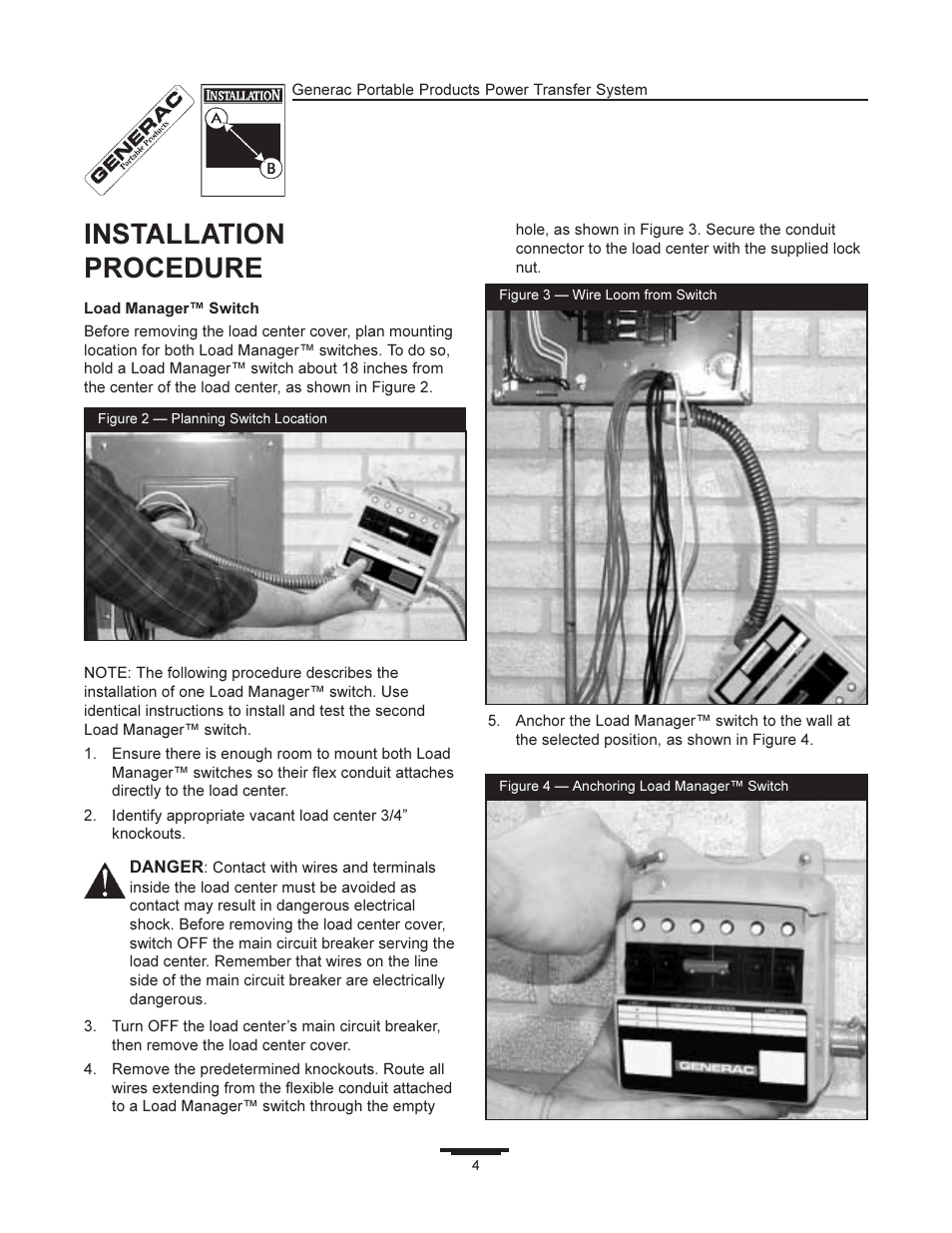 Installation Procedure Generac 1403 0 User Manual Page 4 16 Wiring Instructions