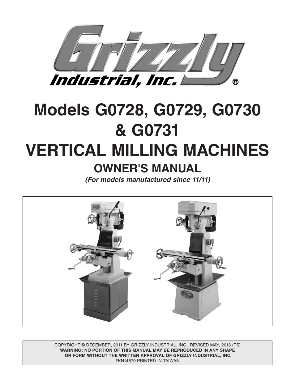 grizzly vertical milling machines g0728 user manual 60 pages rh manualsdir com Select Milling Machine 2 vs Milling Machine Manual