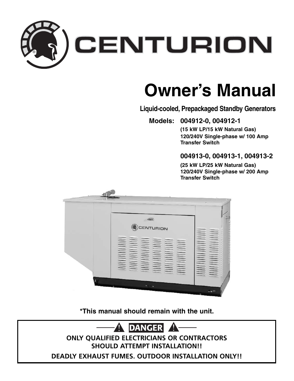 Generac Guardian 5873 ™ 17Kw Standby Generator System 100A 16 ...