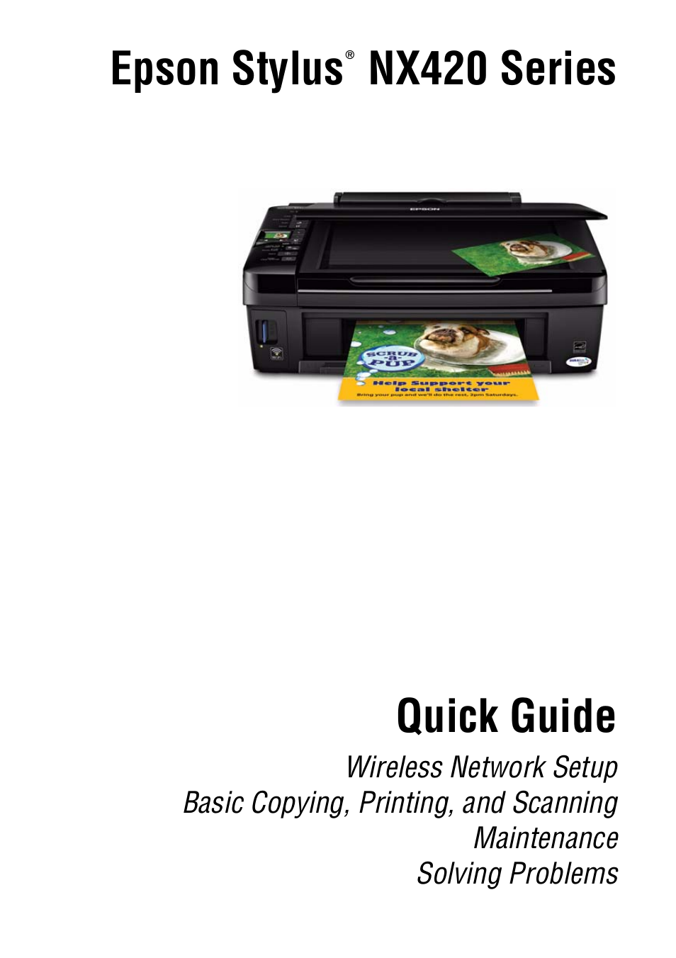 epson stylus nx420 user manual 56 pages rh manualsdir com epson stylus nx420 user guide Epson NX420 Sublimination