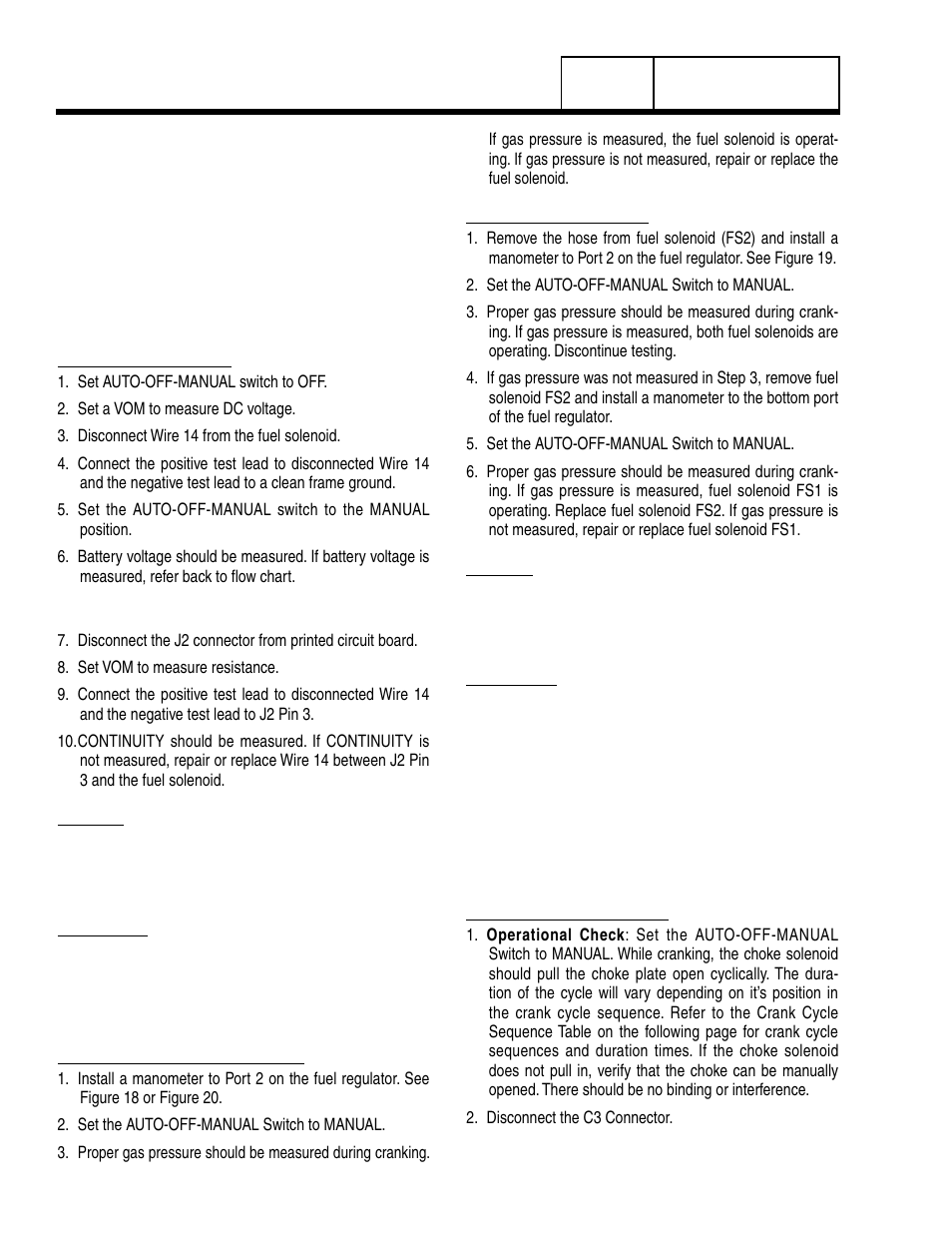 Test 68 – check fuel solenoid, Test 69 – check choke solenoid | Generac  Power Systems 8 kW LP User Manual | Page 134 / 192