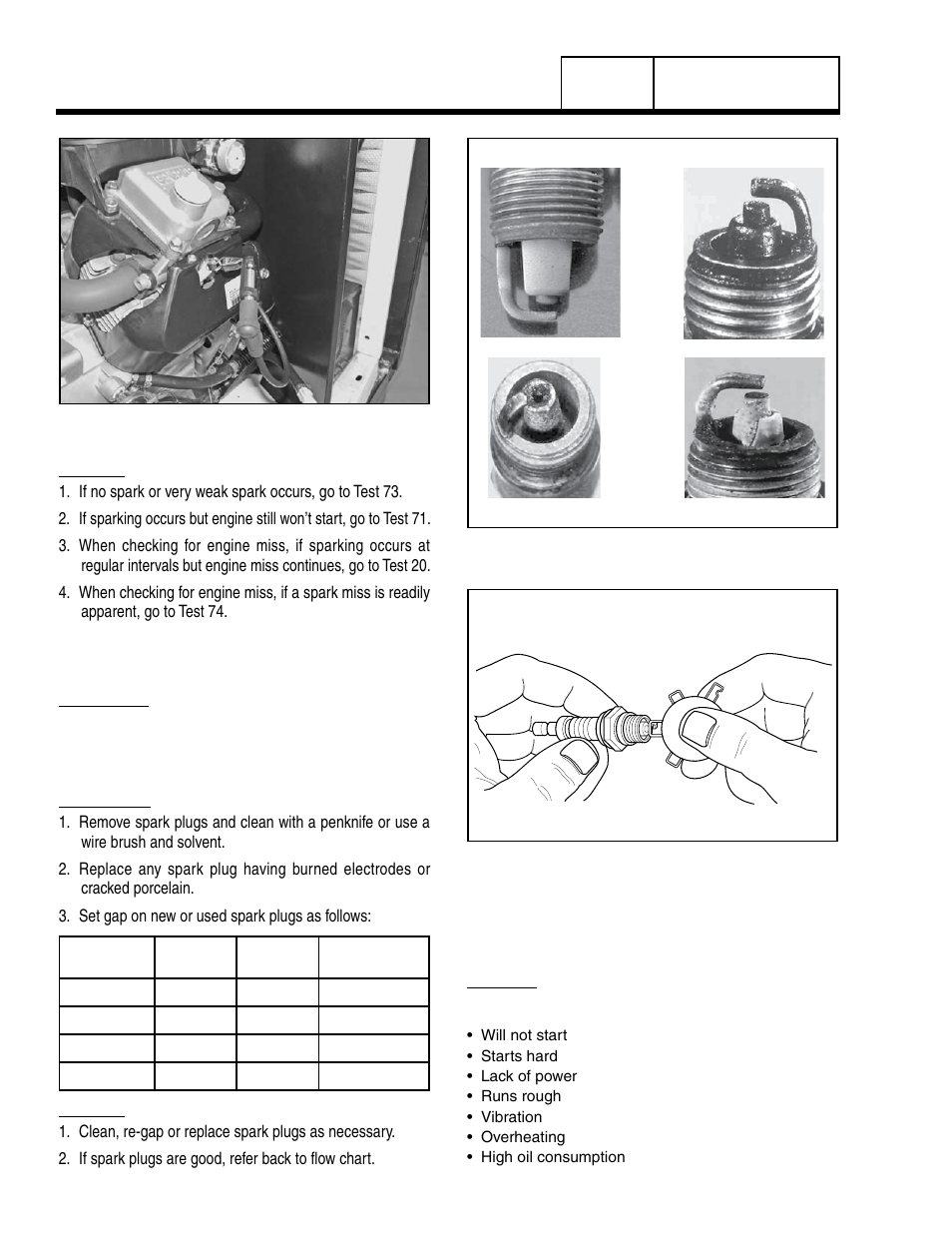 Test 71 – check spark plugs | Generac Power Systems 8 kW LP User Manual |