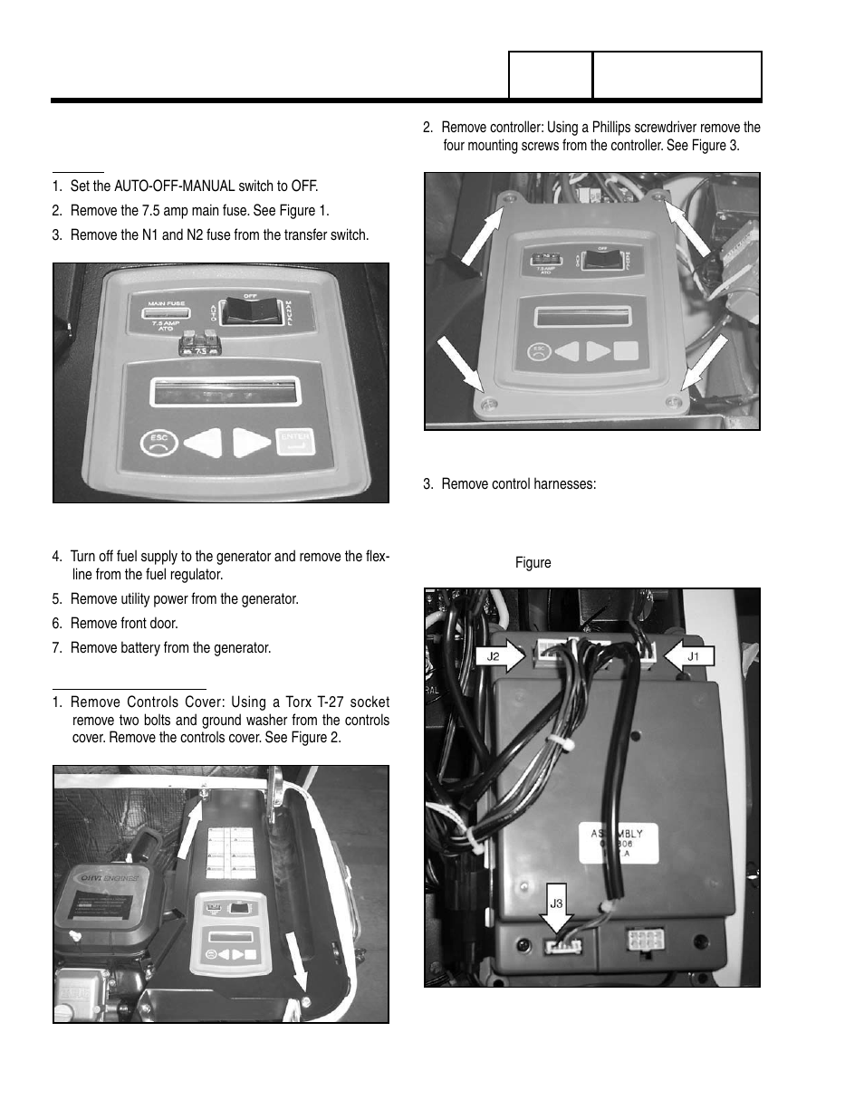 1 Major Disassembly Front Engine Access Generac Power Systems 8 Wiring Harness Kw Lp User Manual Page 154 192