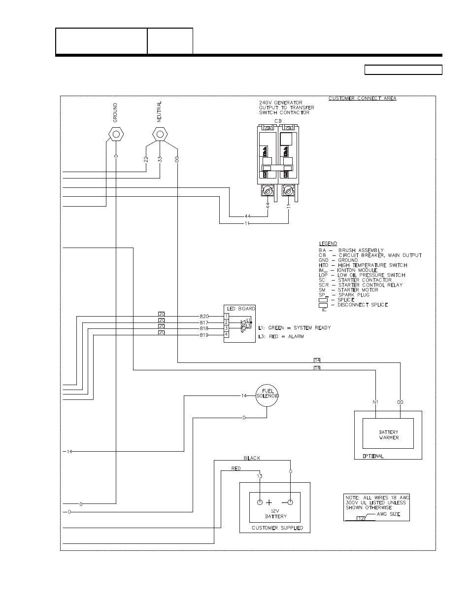 8 Kw Generac Wiring Diagram Diagrams Automatic Backup Generator Transfer Switch Group G 14 Home Standby Part 7 Page Manuals Switches