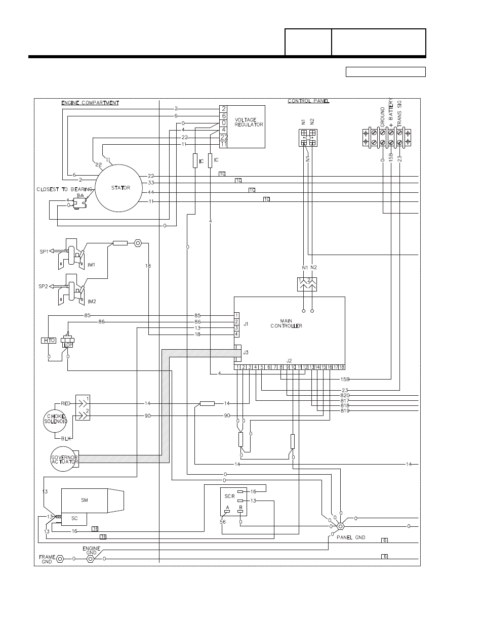 Wiring diagram, 17 kw home standby, Group g, Part 7 | Generac Power