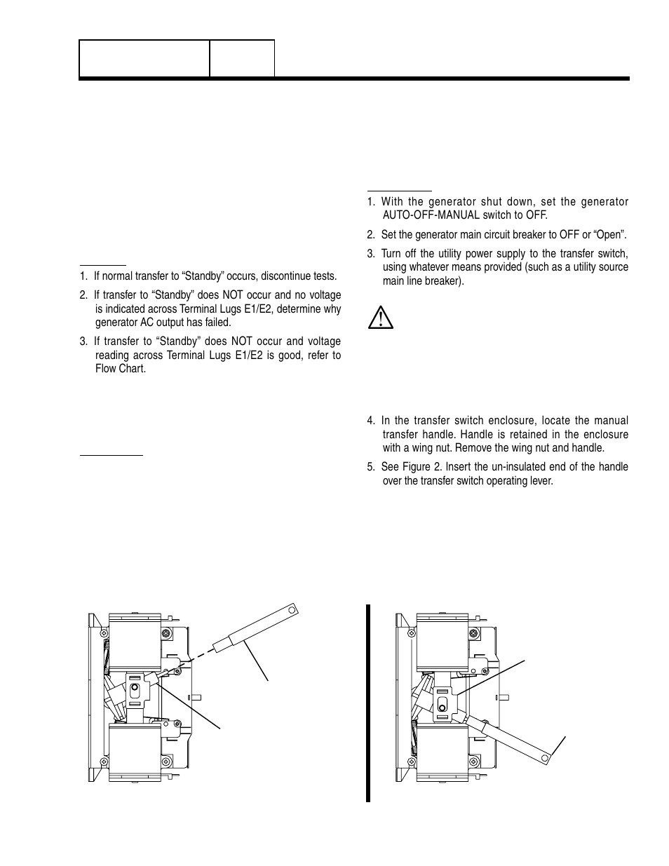 Test 27 – check manual transfer switchoperation | Generac Power Systems 8 kW  LP User Manual | Page 77 / 192