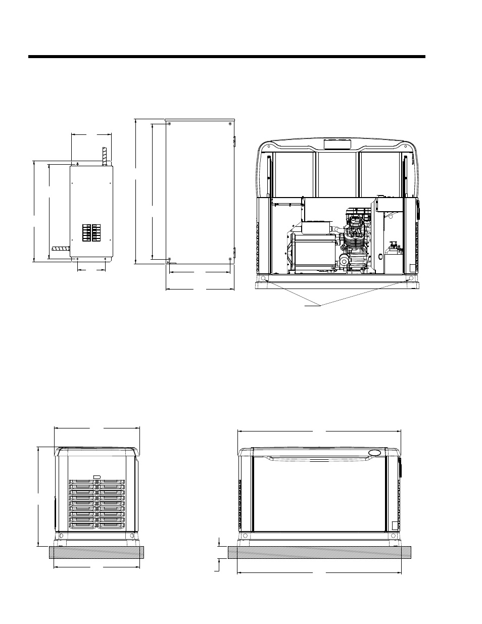 mounting dimensions  do not lift by roof  specifications