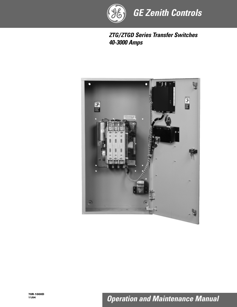ge ztgd series transfer switches 40 3000 amps user manual 36 pages rh manualsdir com ge zenith manual transfer switch zenith ztg transfer switch manual