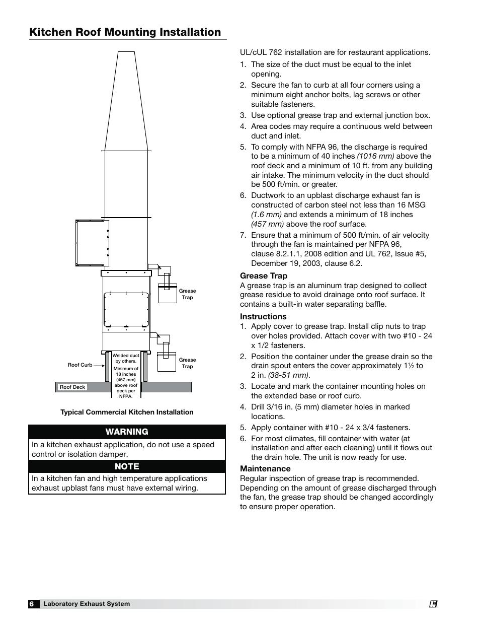 kitchen roof mounting installation, warning greenheck fan Furnace Wire Diagrams Vent Fans