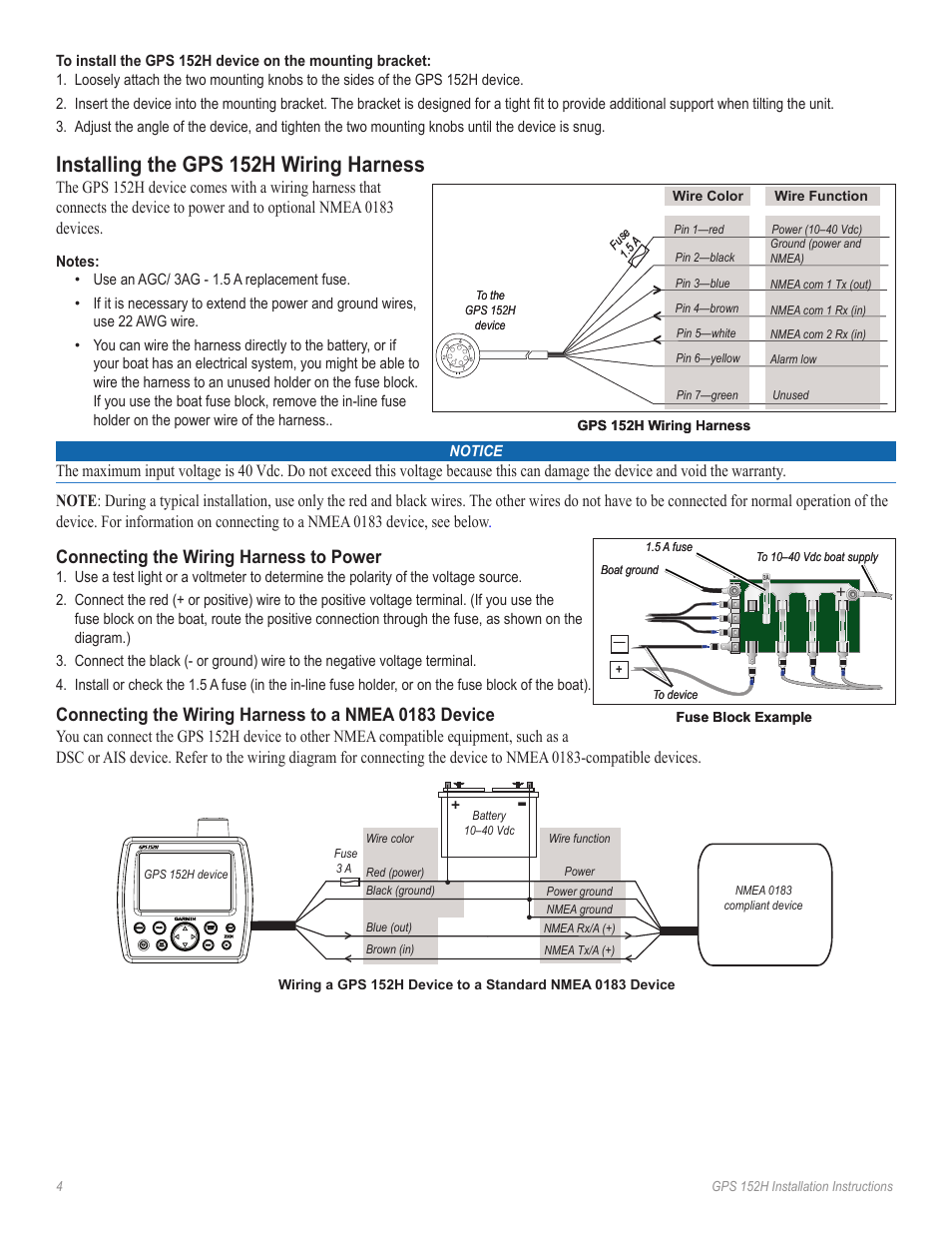 Garmin 5212 Wiring Diagram Gps 152 Free Download Installing The 152h Harness Connecting 7 Pin At
