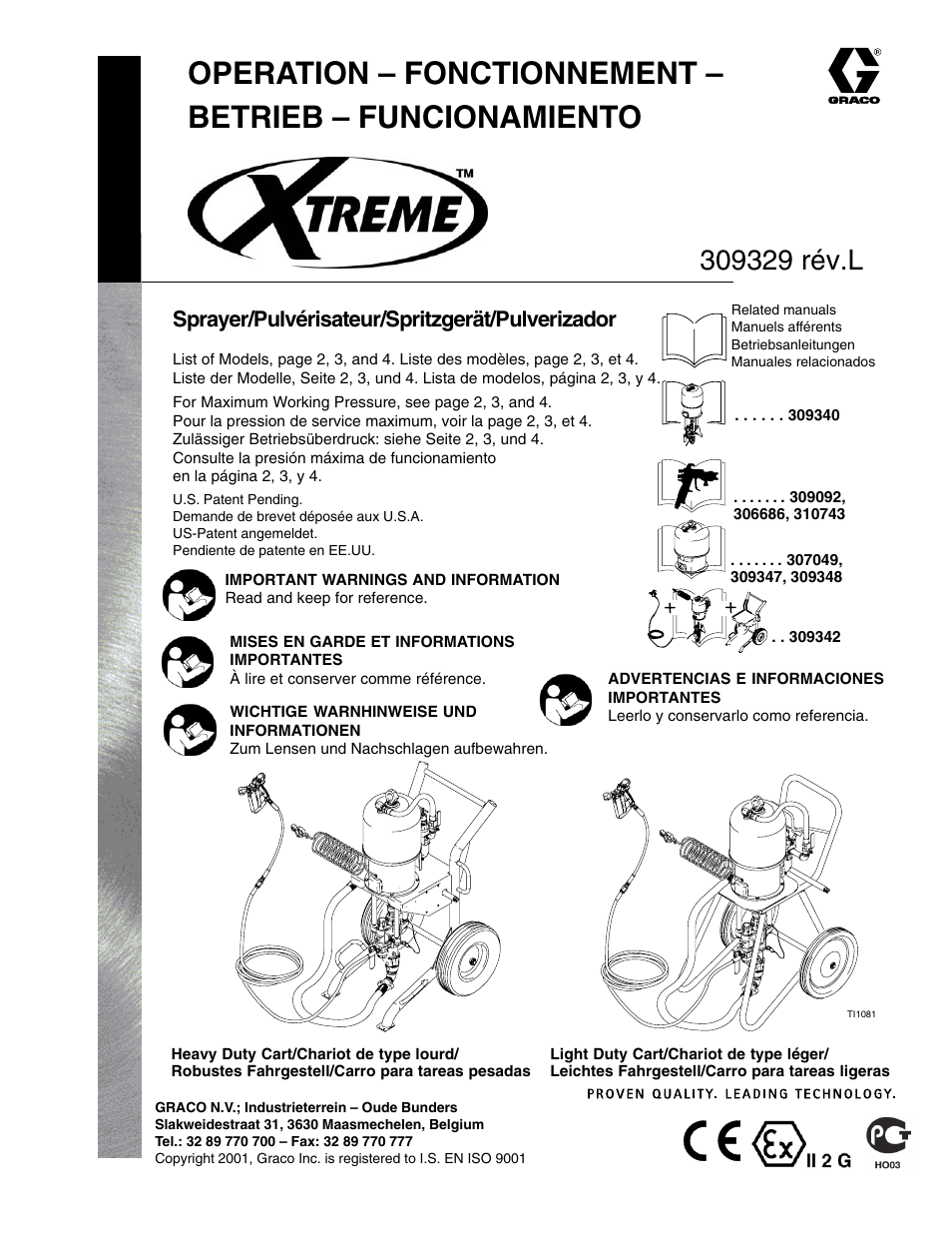 graco inc xtreme 309329 user manual 26 pages original mode rh manualsdir com Graco Minneapolis Graco Airless Sprayer
