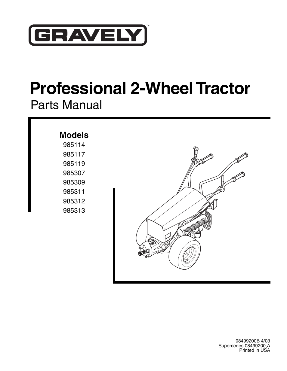 gravely wiring diagrams for model 985119