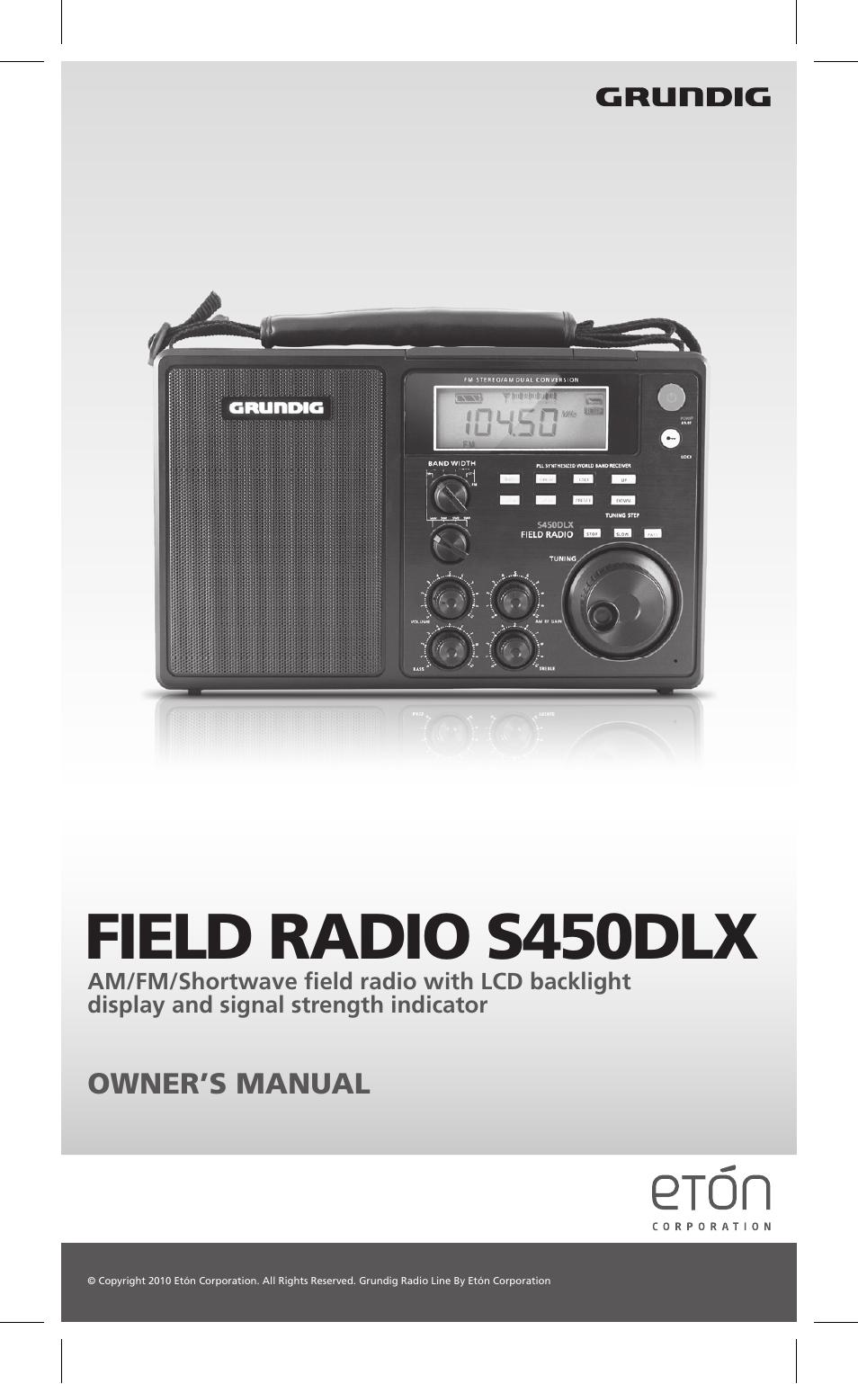 Eton Corporation Am Fm Shortwave Radio Manual Guide
