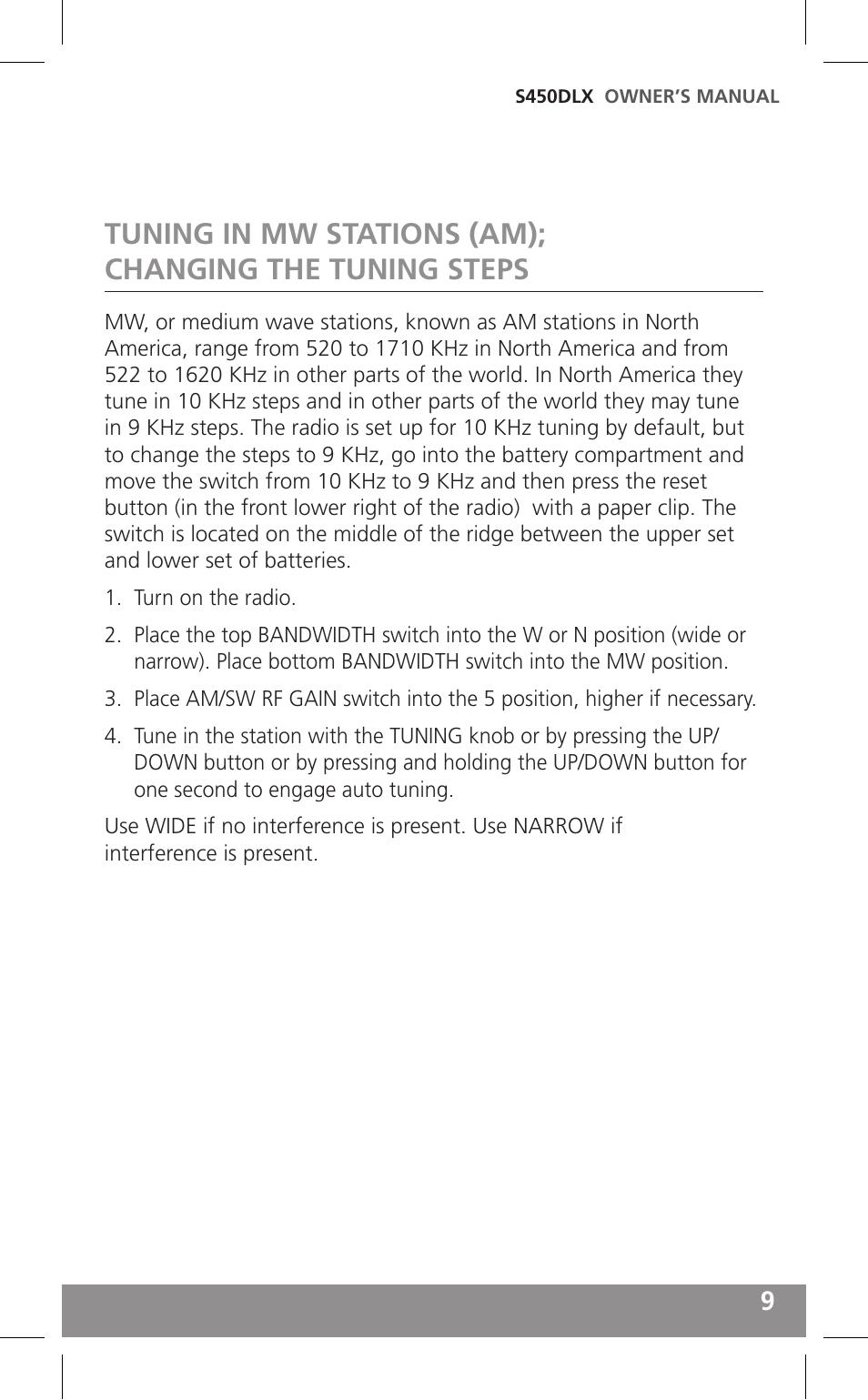Grundig Field Radio S450dlx User Manual Manual Guide