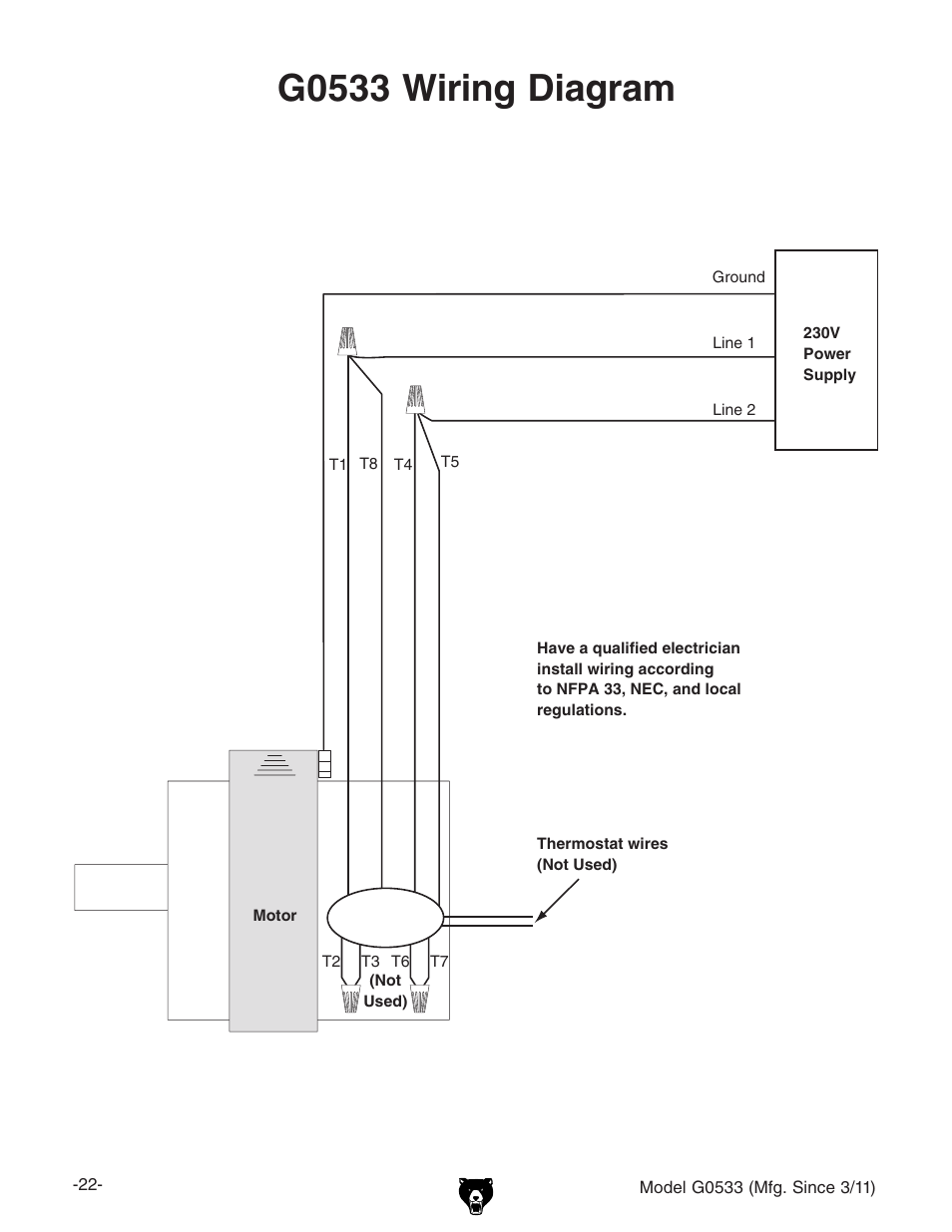 Grizzly Wiring Diagram Electrical Diagrams Yamaha G0533 3hp Dry Spray Booth User Manual Gain