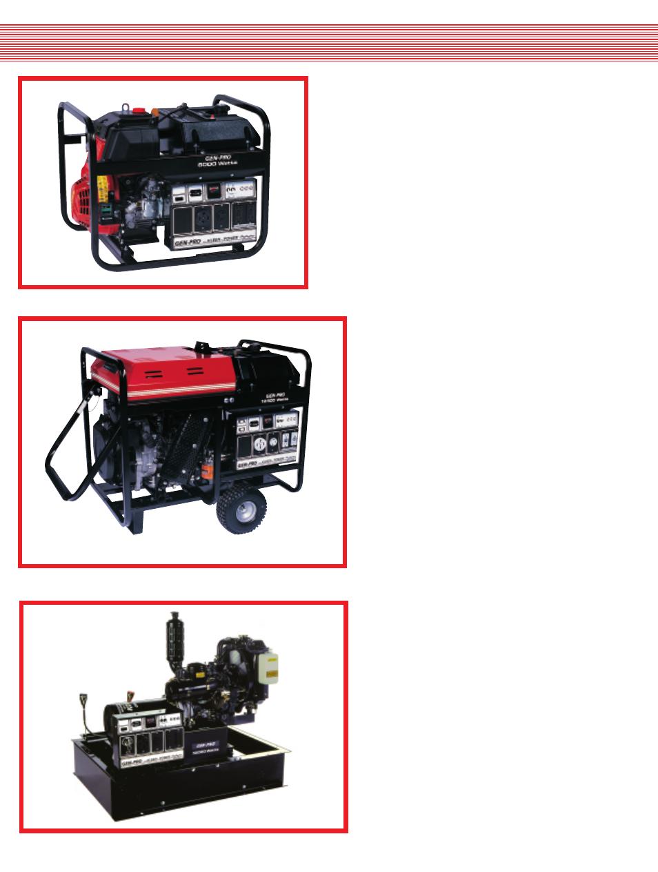 Diesel Generators Gillette Portable User Manual Page Lombardini Fuel Filter 4 6