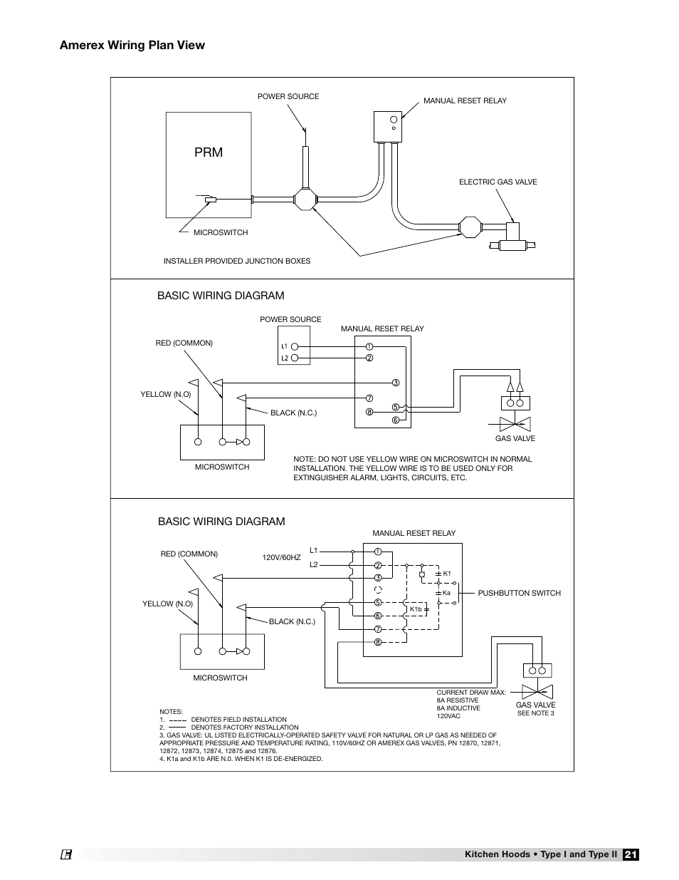 Amerex wiring plan view Basic wiring diagram Greenheck Fan Canopy
