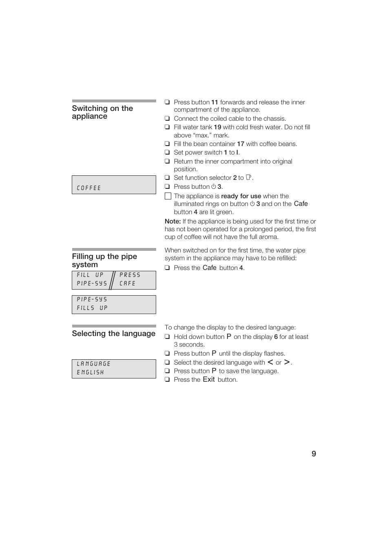 Gaggenau CM200610 User Manual | Page 9 / 105
