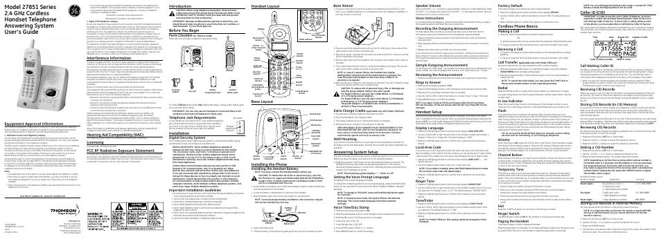 ge 27851 series user manual 2 pages rh manualsdir com
