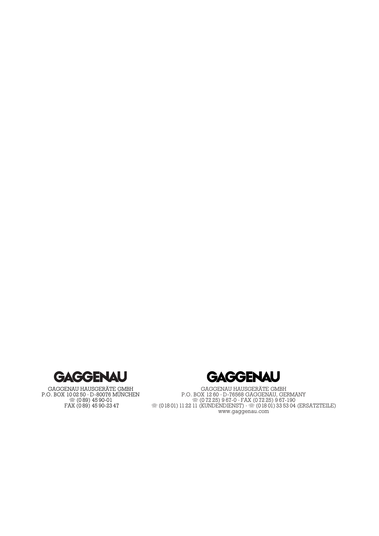 Gaggenau Ah 600 190 User Manual Page 19 19