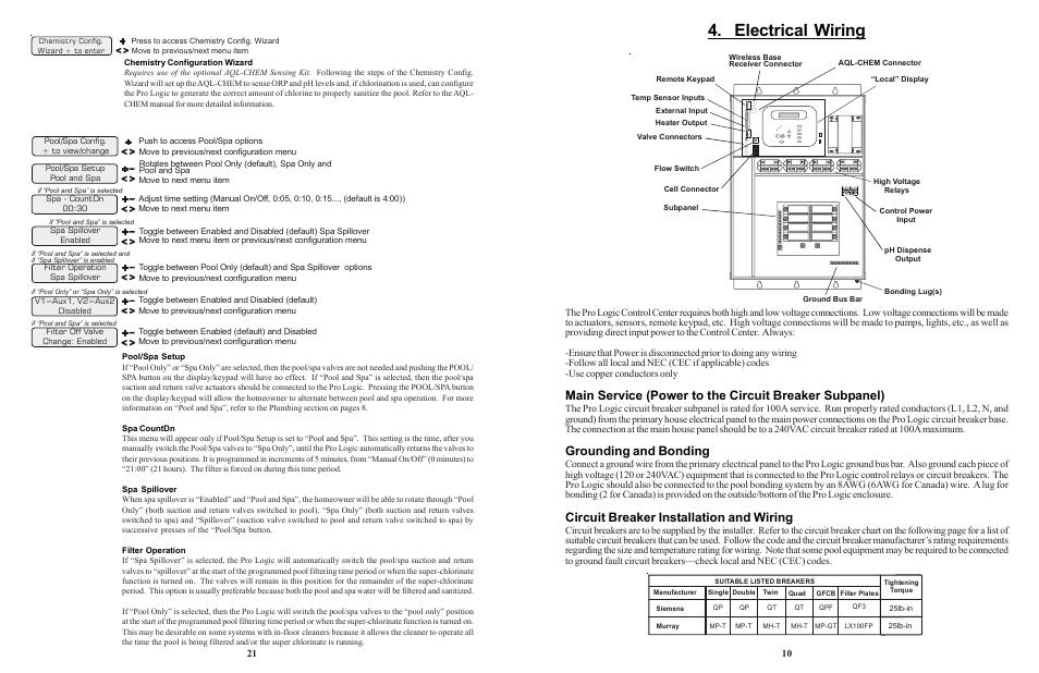 Electrical wiring, Grounding and bonding, Circuit breaker