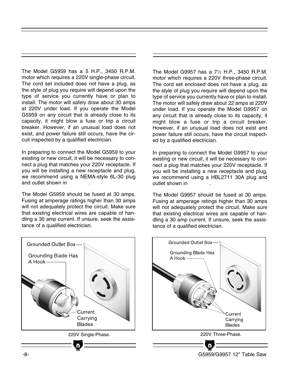 Grizzly G5959 User Manual   Page 10 / 52