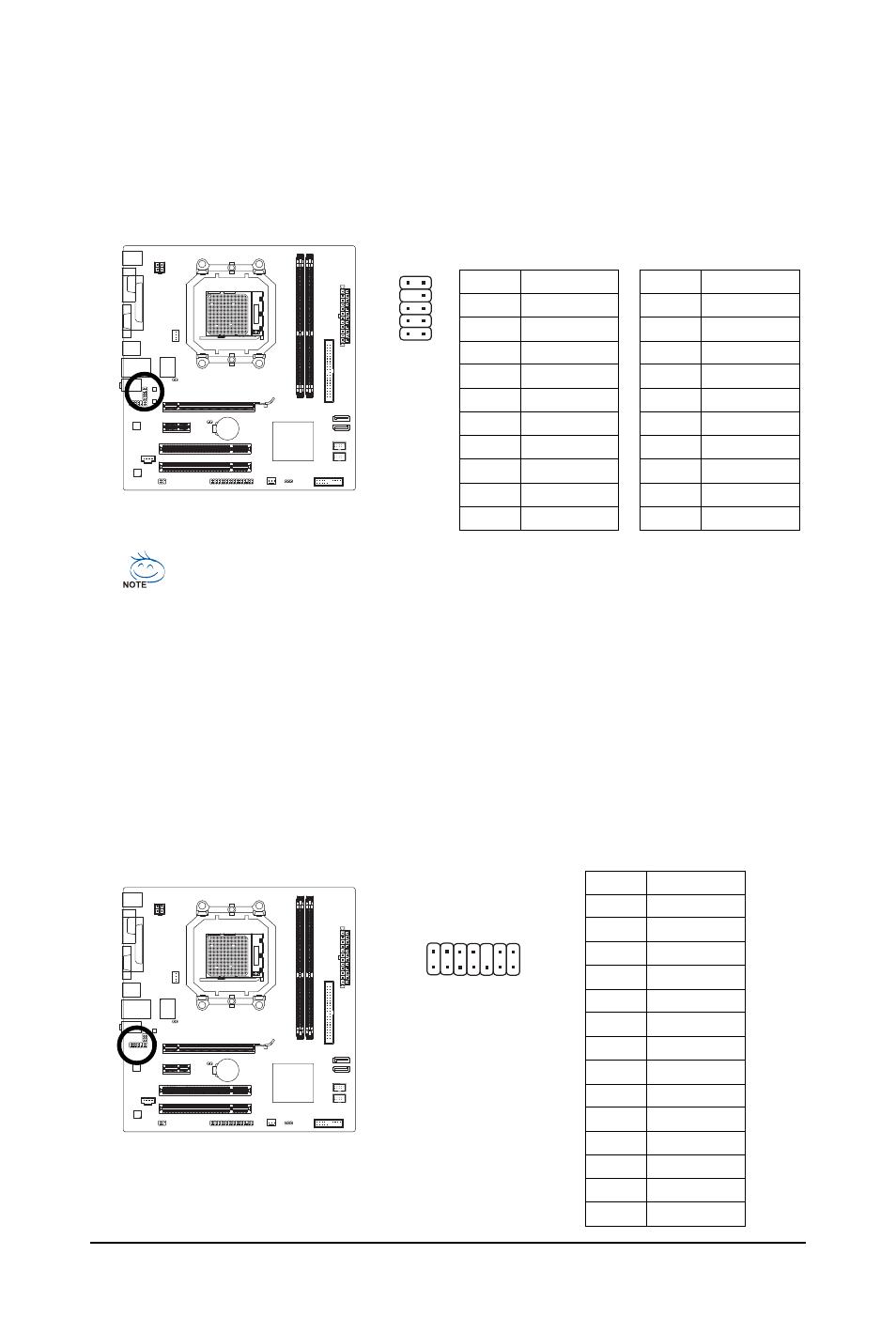 11) f_audio (front panel audio header), 12) hda_sur (surround/center