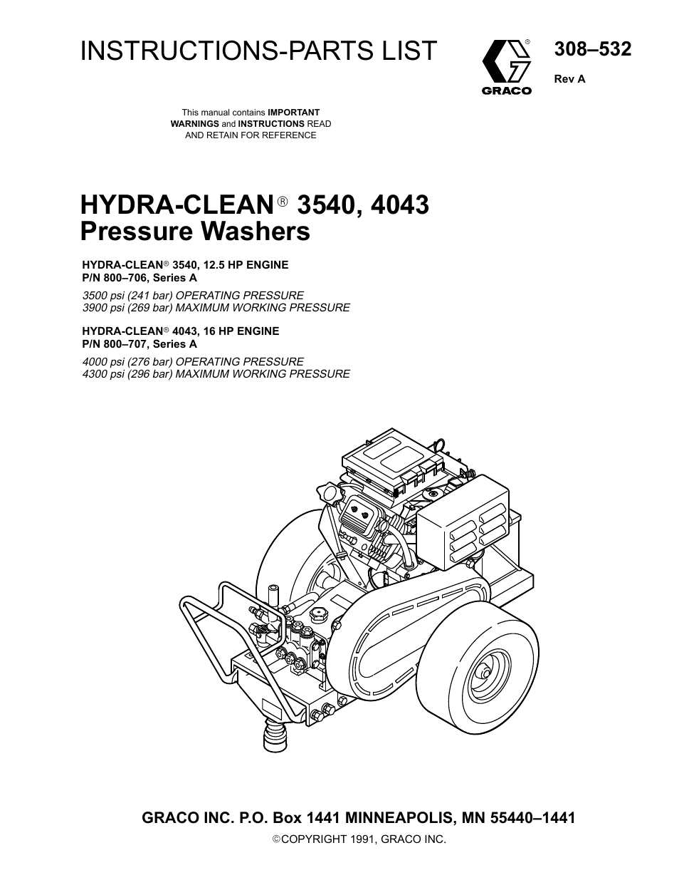 Graco Inc Hydra Clean 800 706 User Manual 25 Pages Also For
