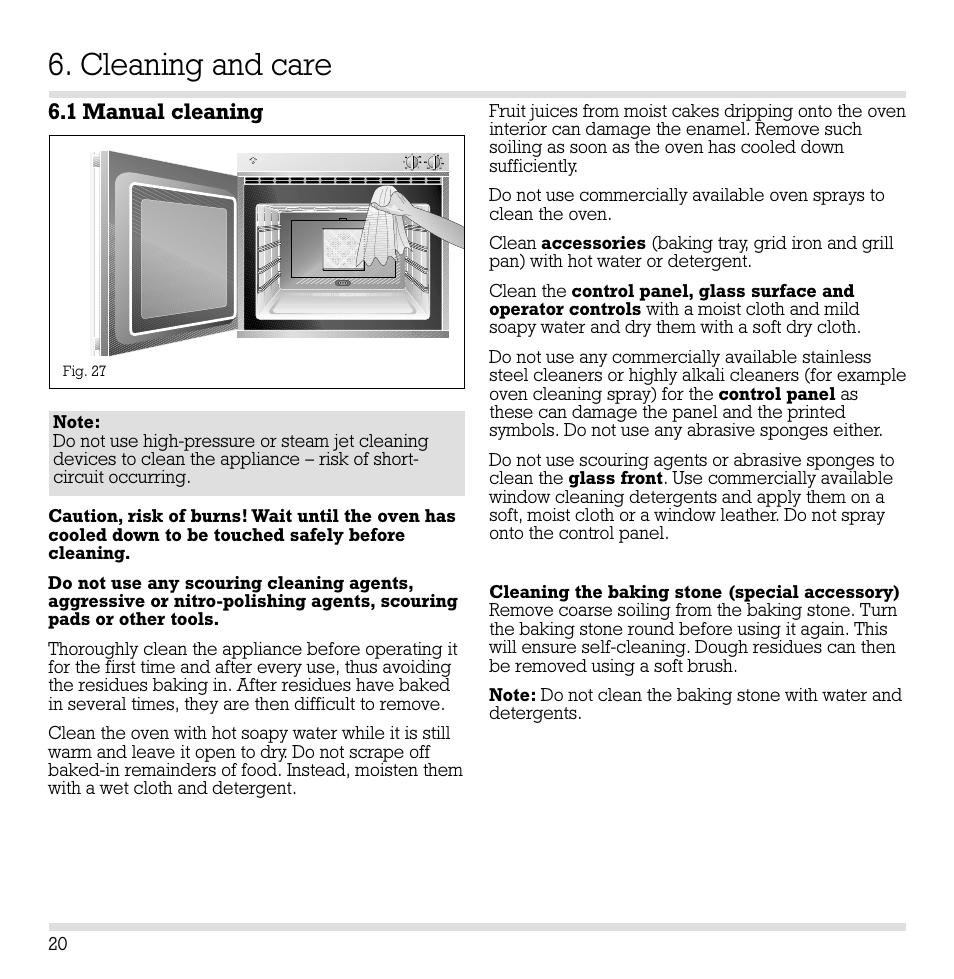 cleaning and care 1 manual cleaning gaggenau eb 204 205 user rh manualsdir com Gaggenau Appliances Logo Gaggenau Appliances Logo