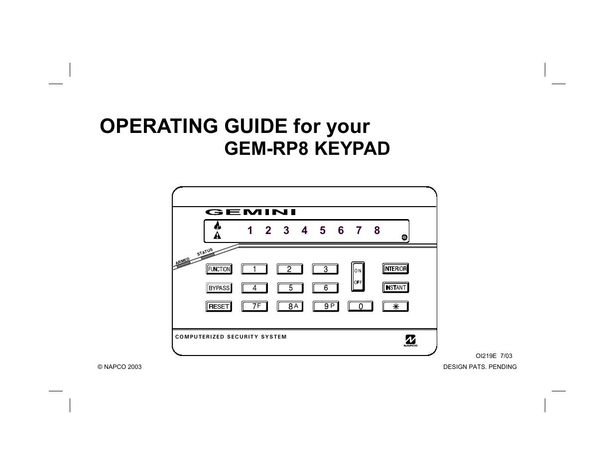 gemini gem rp8 user manual 16 pages rh manualsdir com