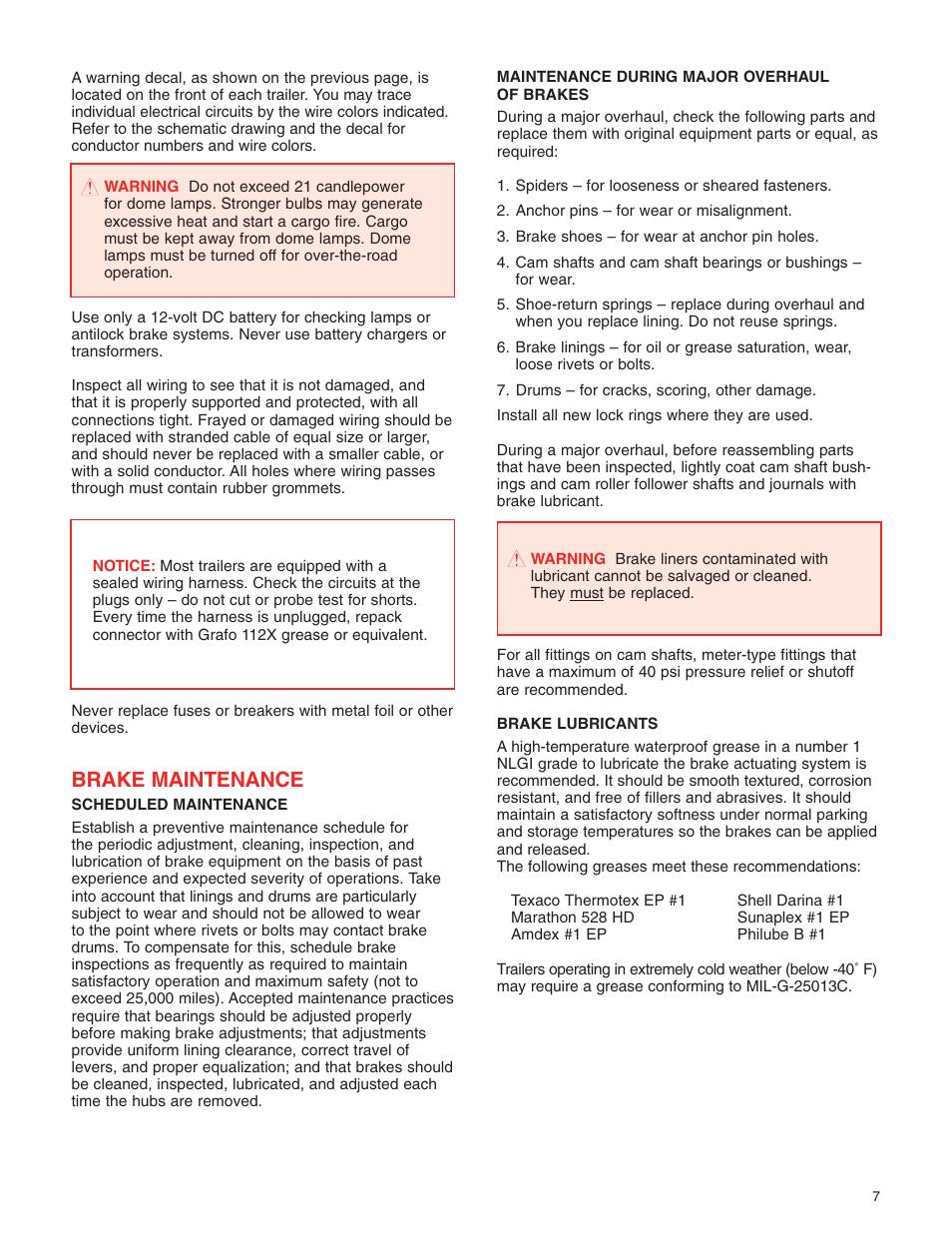 Brake Maintenance Great Dane 42101401 User Manual Page 9 32 Wiring Schematic