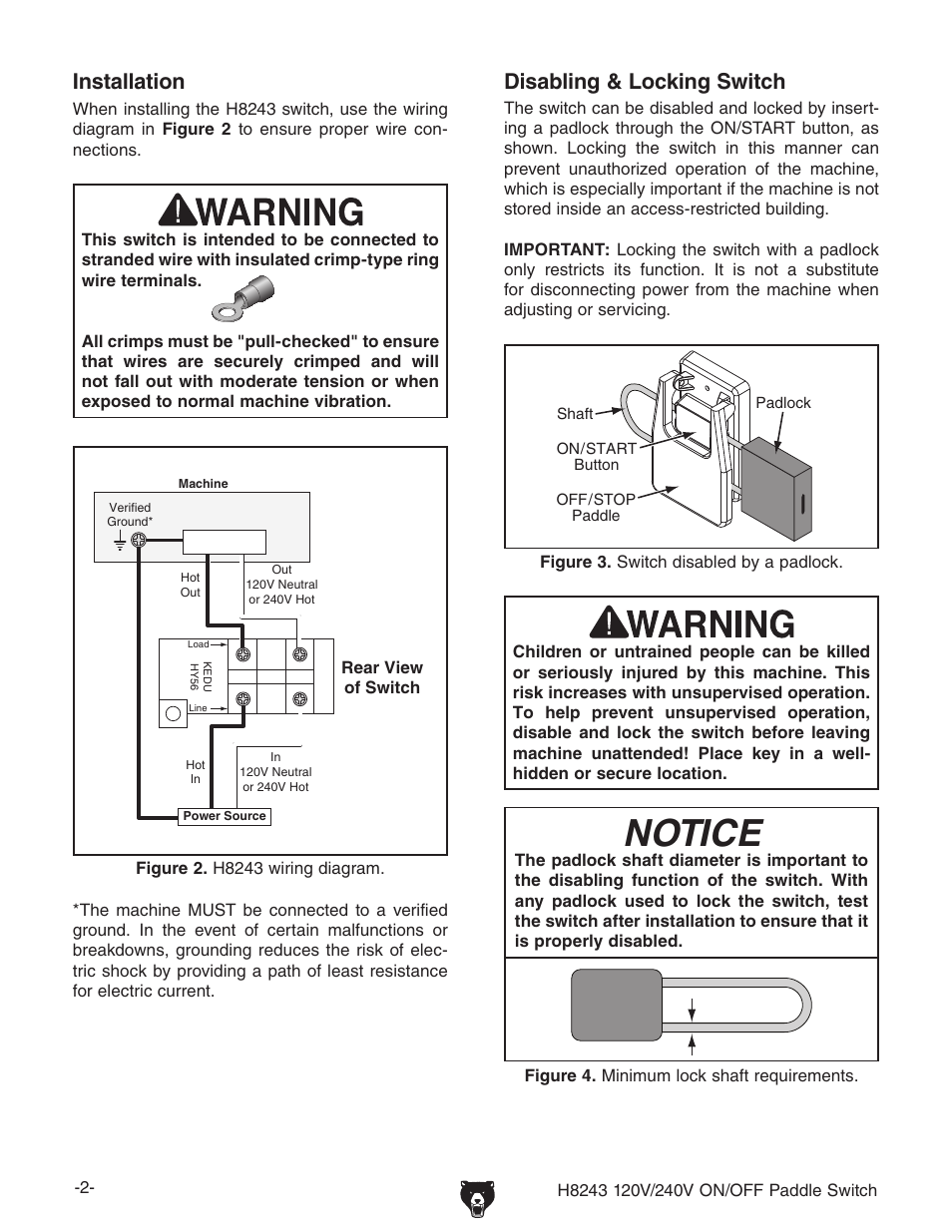 Notice  Disabling  U0026 Locking Switch  Installation