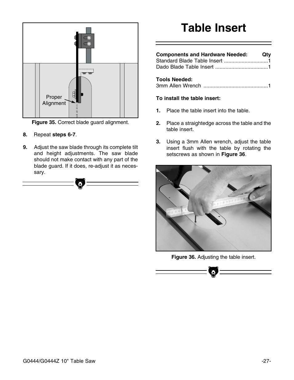 table insert grizzly g0444 user manual page 29 64 rh manualsdir com