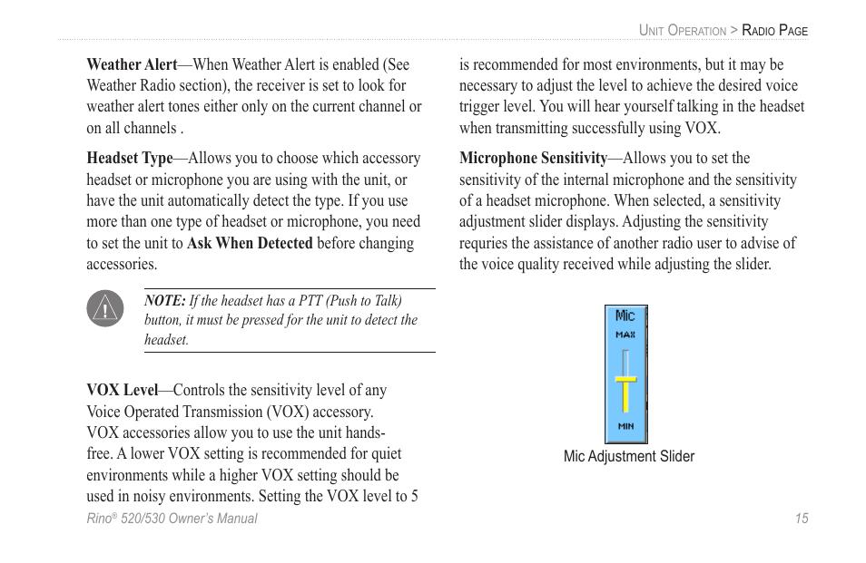 Garmin 520 User Manual | Page 25 / 132