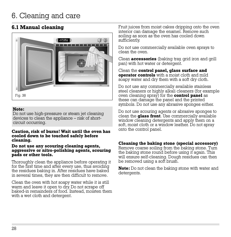 cleaning and care 1 manual cleaning gaggenau eb 260 261 user rh manualsdir com gaggenau coffee machine instruction manual Owner's Manual