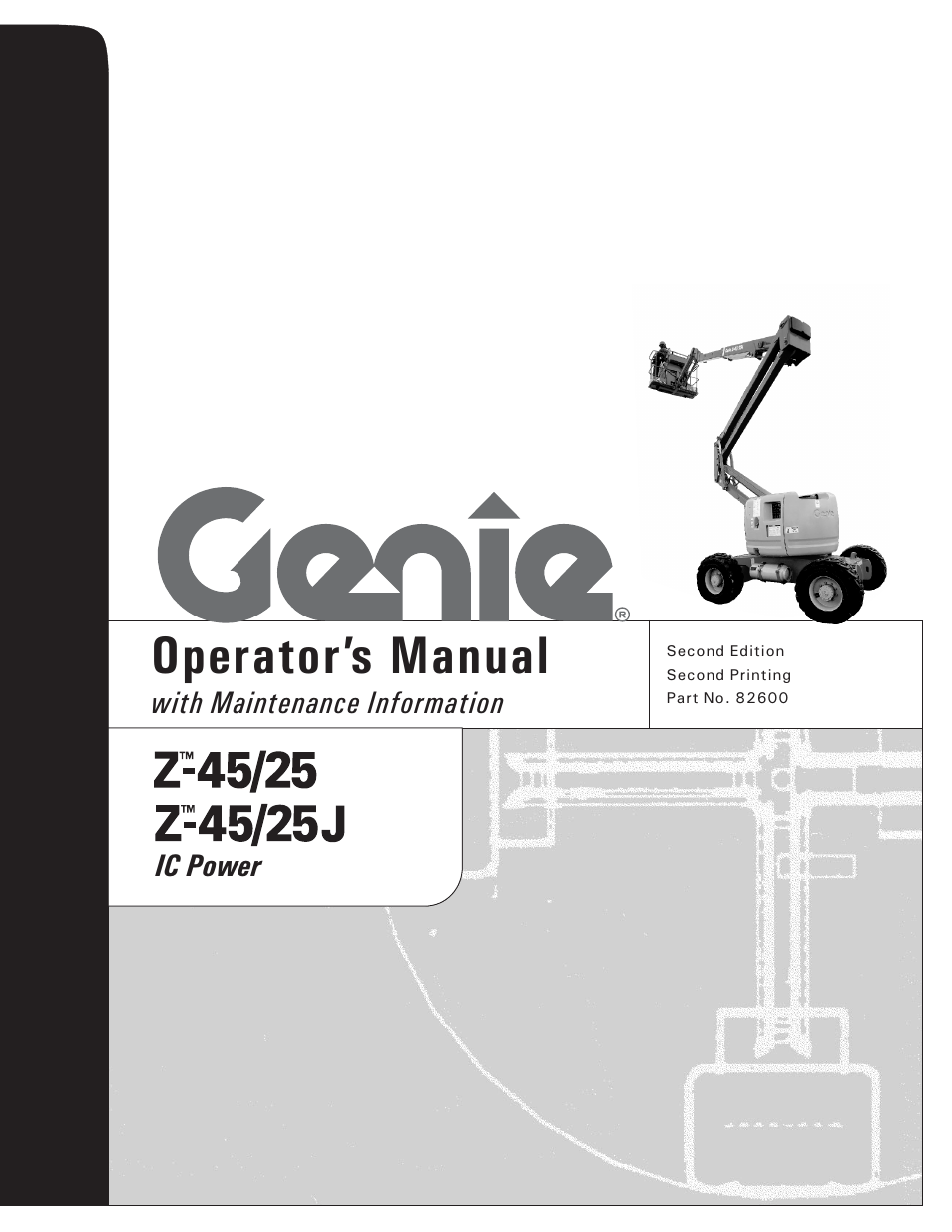 genie z 45 user manual 42 pages also for z 25 rh manualsdir com genie boom z45 25 manual genie boom z45 25 manual
