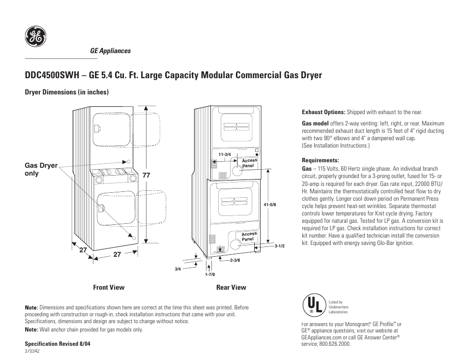 Ge Spacemaker Dskp233ew User Manual 3 Pages Also For