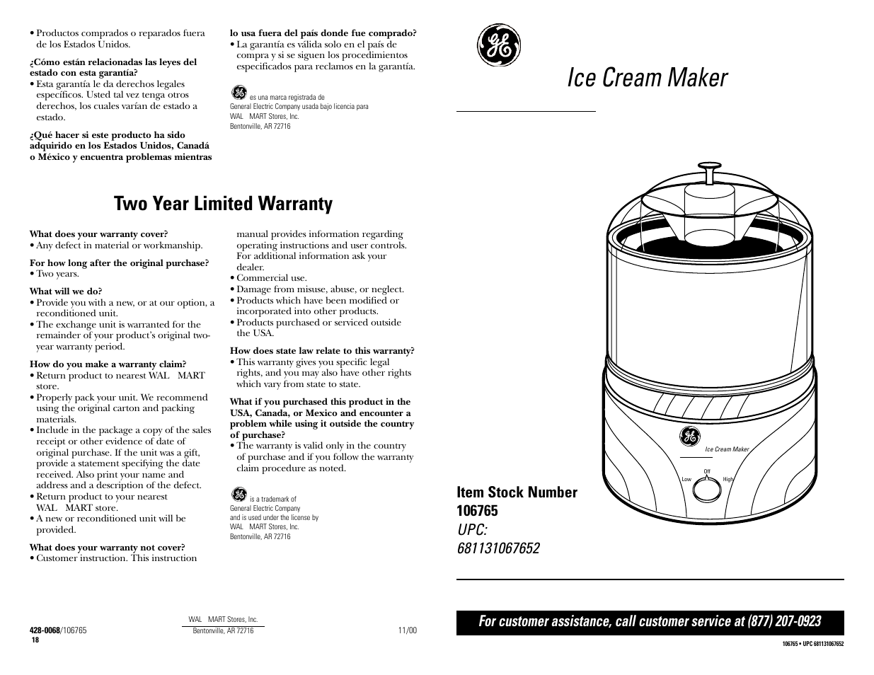 Ge 681131067652 User Manual 16 Pages Also For 106765