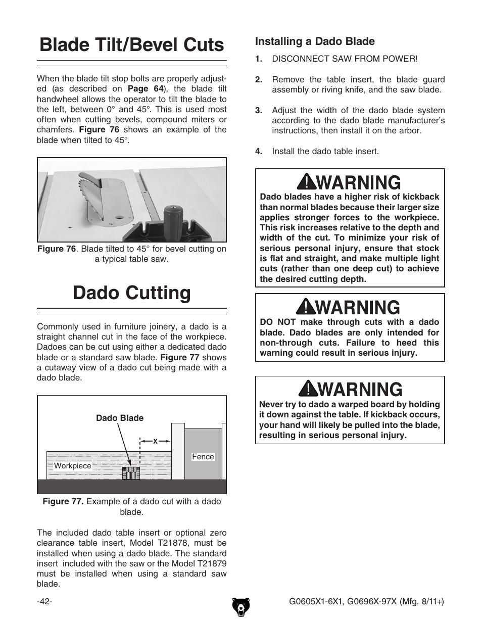 Blade tiltbevel cuts dado cutting grizzly g0696x user manual blade tiltbevel cuts dado cutting grizzly g0696x user manual page 45 101 greentooth Gallery