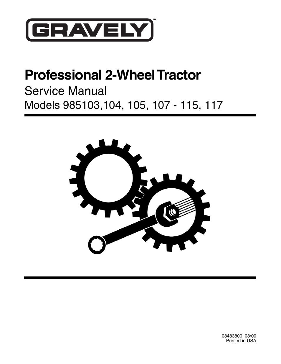 gravely 985103 user manual 44 pages also for 985112 985108 rh manualsdir com gravely 7.6 convertible service manual gravely commercial 10a service manual