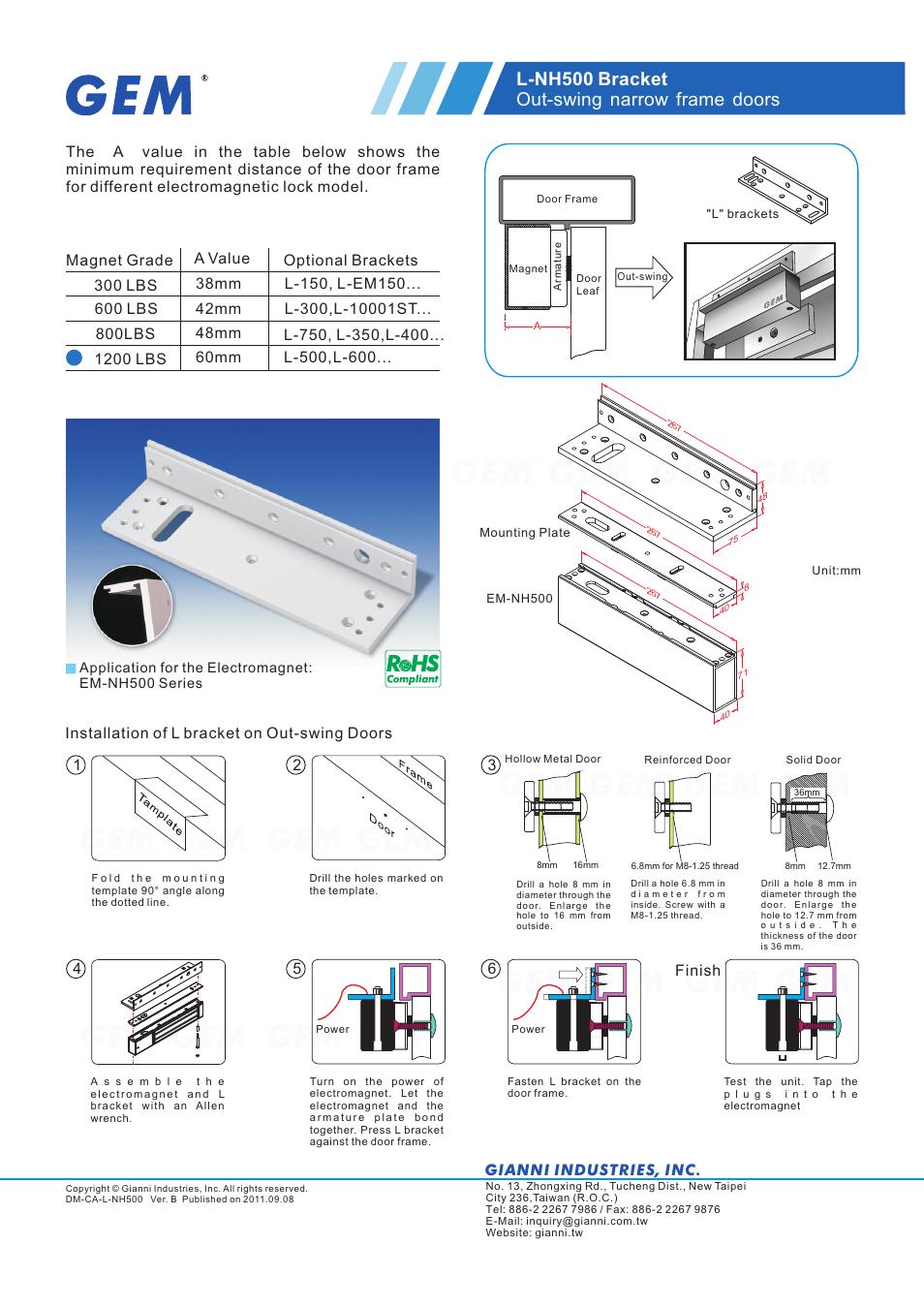 gianni industries l nh500 user manual 1 page original mode rh manualsdir com User Manual Template Operators Manual